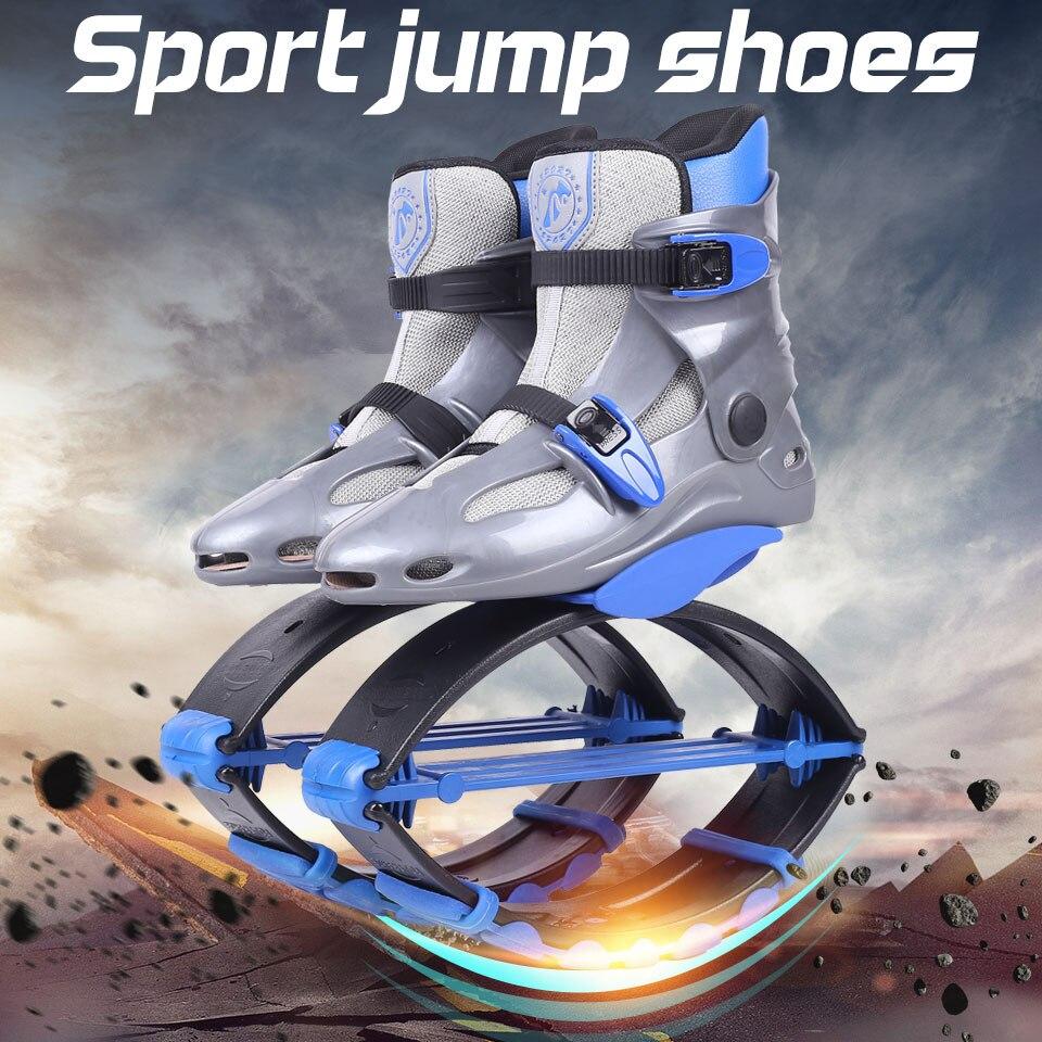 Haute Qualité Pas Cher Kangourou Saute Chaussures En Plein Air Fitness Bounce Chaussures Tonifiantes Gris-bleu Taille 17/18
