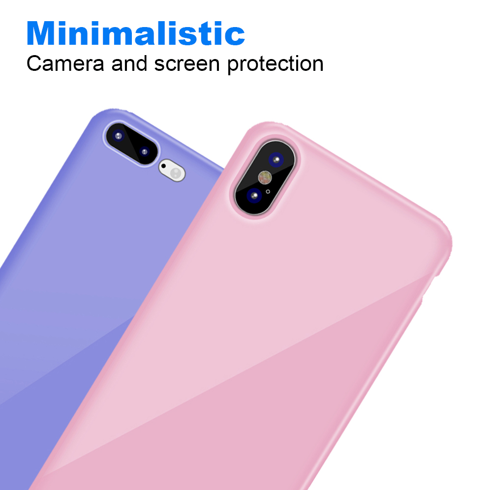 Ascromy For iPhone X Candy Color Case Luxury Soft TPU Cute Shockproof Cover Fundas For iPhone 8 Plus 7 6 6S 10 Coque Accessories (4)
