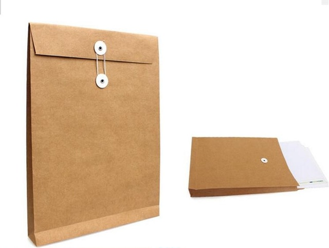 25 35 4cm A4 Kraft File Doent Packaging Holder Paper Bag