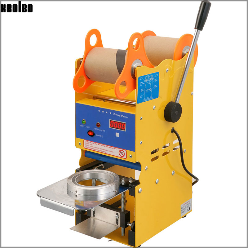Xeoleo Digital Bubble tea machine Manual Cup sealing machine Manual Cup sealer for 9/9.5cm Beverage cup EU/AU/US/UK 220V/110V digital design manual