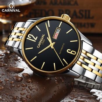 2017 CARNIVAL SimpleDesign Classic Men Wrist Watch Topbrand Luxury Stainless Steel Relogio Fashion Waterproof Mechanical Montre