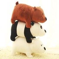 3 Pieces 25cm Cute Cartoon Bear Grizzly Bear Panda Stuffed Plush Toy Doll Christmas Birthday Gift For Kid Child