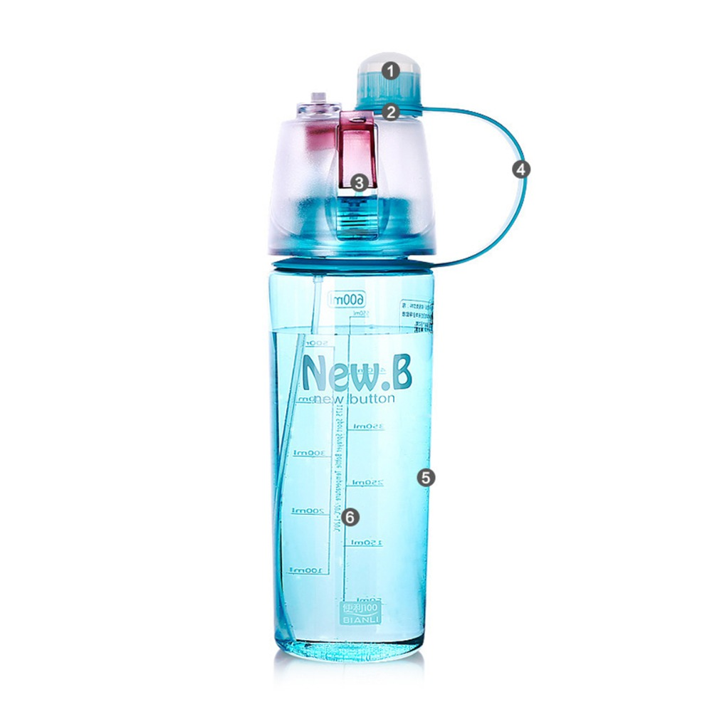 New Plastic Sports Spray Water Bottle Straw For Outdoor Bicycle Cycling Sports Gym Leak Proof Moisturizing Drinking Bottles
