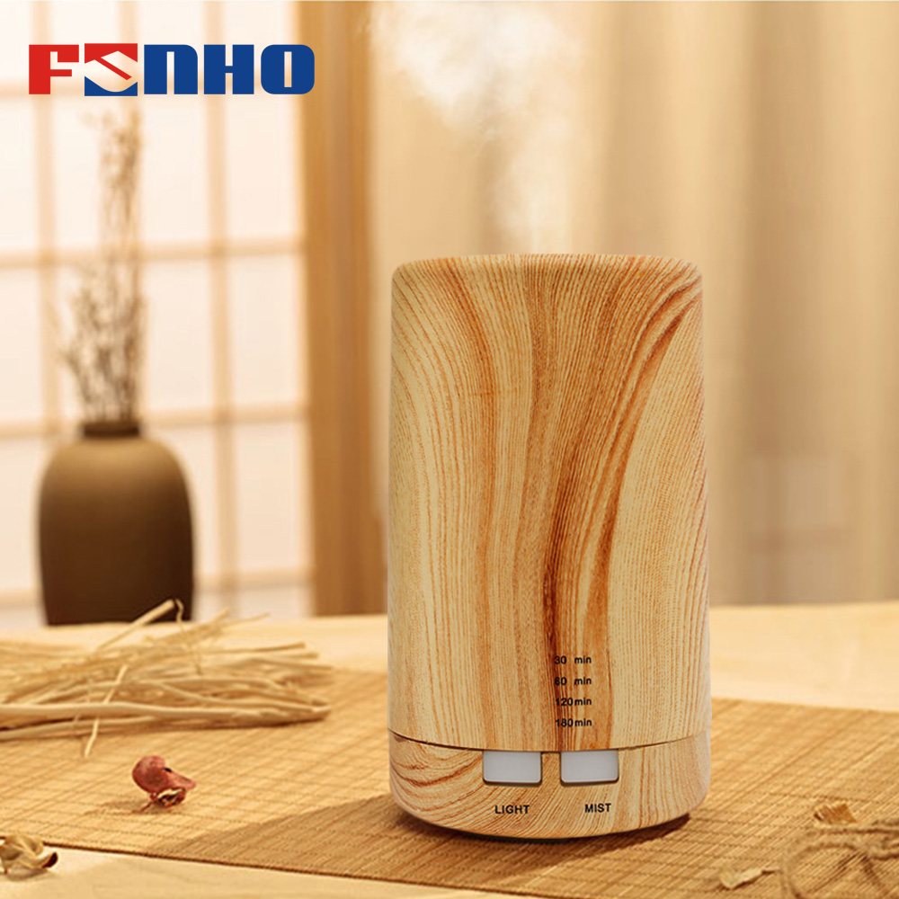 FUNHO Ultrasonic Air Aroma Humidifier Classic Wood Grain Safety Electric Aromatherapy Essential Oil Diffuser For Home 213 цена