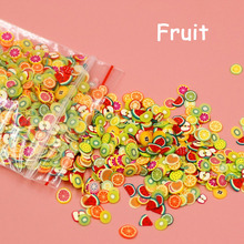 1000PCS Fruit Animal Slice Sticker Slime Accessories Fashion DIY Nail filling Polymer Clay Cute Decor Decals Creative Girl Toy