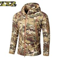 Lurker Shark Skin Soft Shell Military Tactical Jacket Men Waterproof Windproof Warm Coat Camouflage Hooded Camo Army Clothing