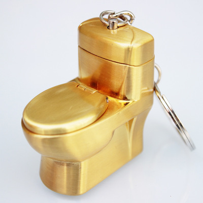 Image 3 - New Butane Lighter Creative Compact Funny Toys Toilet Gas Lighter Key Chain Inflated Toilet Bowl Key Chain Lighter Bar Metal-in Matches from Home & Garden