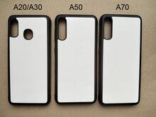 Dla Samsung A10E A20s A30 A40 A51 A50 A70 M20 gumy TPU sublimacji druku przypadku telefonu puste metalowe aluminium płyta 5 części/partia