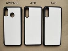 עבור Samsung A10E A20s A30 A40 A51 A50 A70 M20 גומי TPU הדפסת סובלימציה טלפון מקרה ריק מתכת אלומיניום צלחת 5 יח\חבילה