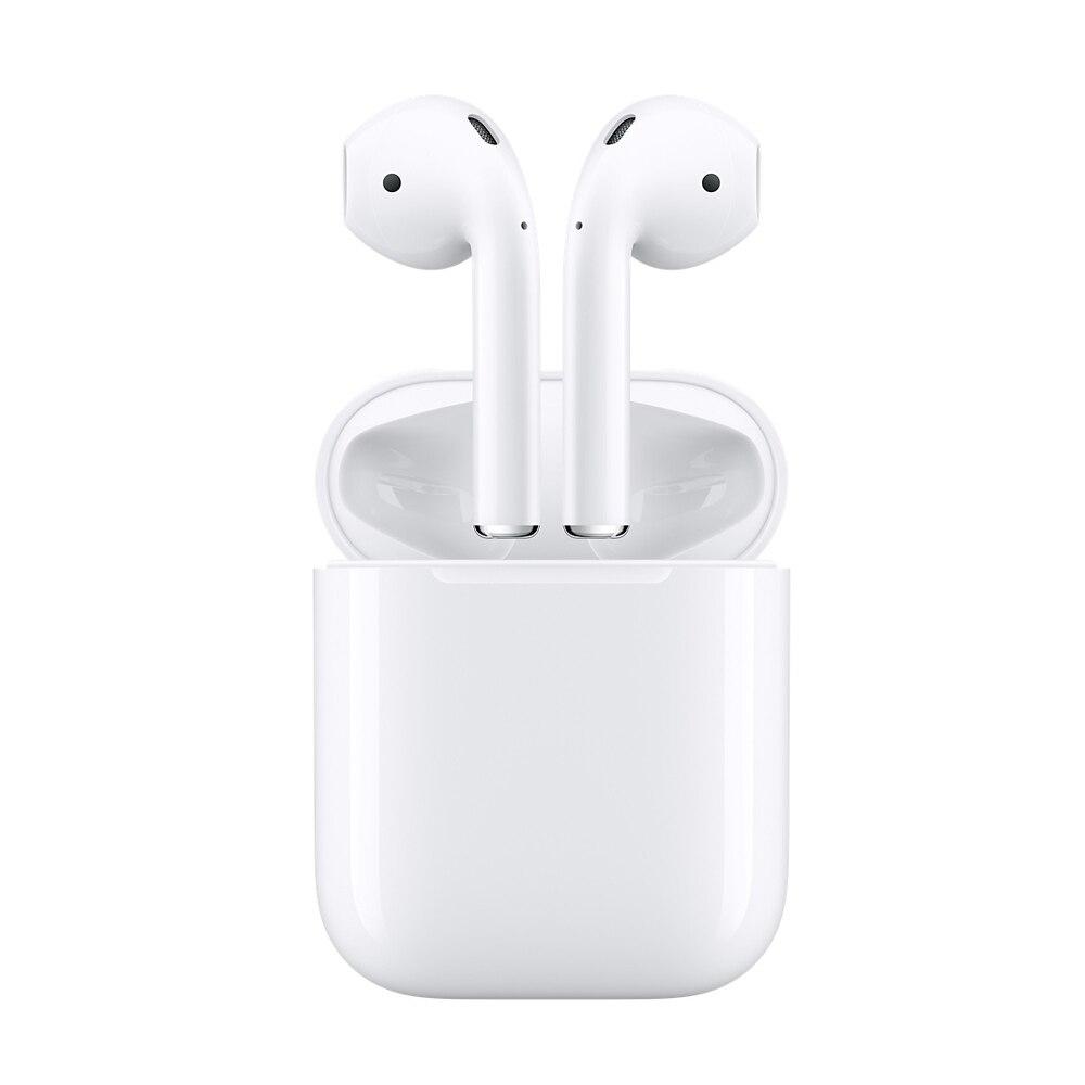 Натуральная Apple AirPods беспроводной оригинальные наушники Bluetooth наушники для iPhone Xs Max XR 7 8 плюс iPad MacBook Apple Watch