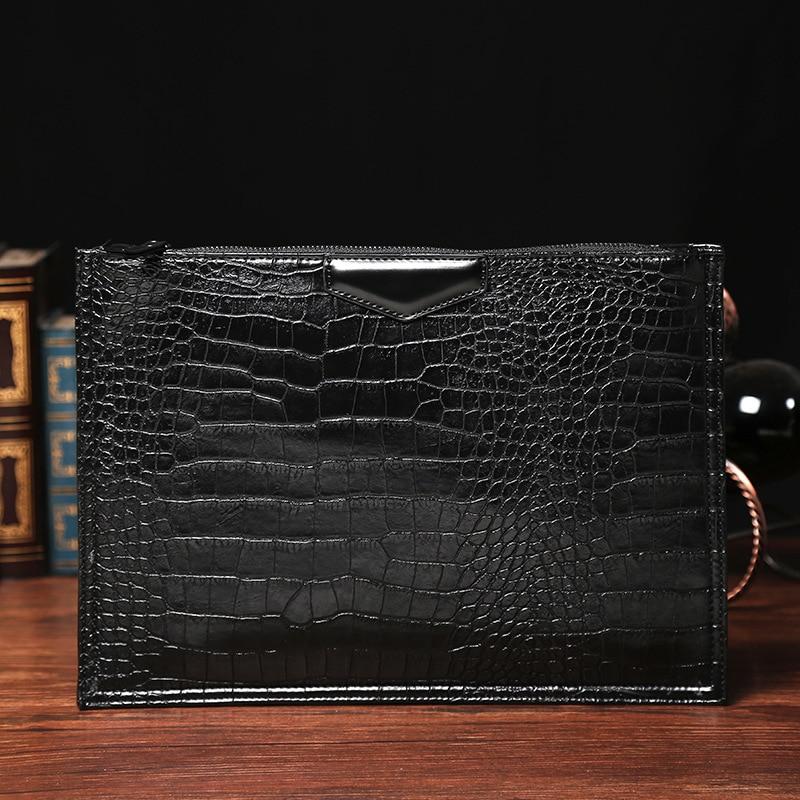 2019 New Leather Bag Business Men Crocodile Pattern Leather Laptop Tote Briefcases Bags Shoulder Handbag Men's Messenger Bag