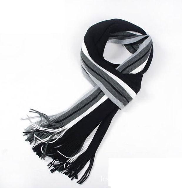 2016 New fashion designer Men Classic Cashmere Scarf Winter Warm Soft Fringe Striped Tassel Shawl Wrap striped scarf men scarves