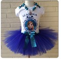 Girls Vestido Elsa Ana Princesses Party Tutu Summer Dress Bow Cotton Tulle Short Baby Kids Ballet elza Roupas Menina Clothes