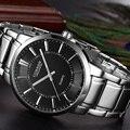 Curren top brand hombres de lujo relojes de los hombres reloj de pulsera de cuarzo Ocasional militar de Acero Completo Relojes Hombres Deporte Dial Grande reloj