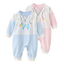 New Fashion Newborn Toddler Infant Baby Boys Romper Long Sleeve Jumpsuit Playsuit Little Girls Outfits Blue and Pink Clothe