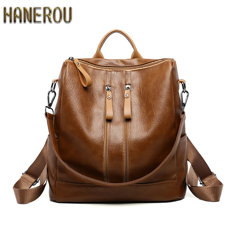 Water Proof PU Leather Backpacks For Teenage Girls 2018 Anti Theft Backpack Fashion Sac A Dos Kpop Back Pack Women Brand Bagpack