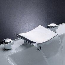 Homedec Homedec Bathroom Bath Tub Faucet Chrome Waterfall Bath Shower Faucets Vessel Sink Plumbing Fixtures Unique Designer