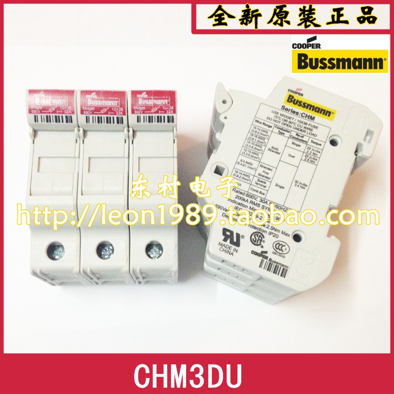 [SA] US Bussmann fuse holder CHM3DIU CHM3DU fuse holder 10 & times; 38mm loaded triple--2PCS/LOT us bussmann fuse tcf45 tcf40 tcf35 35a tcf30 600v fuse