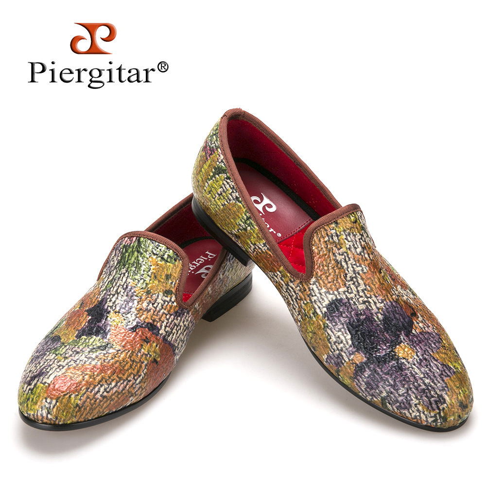 New style Painting graffiti style Mix colors men loafers British style smoking slipper fashion men's casual shoes men's flats piergitar new style leopard pattern special fabrics handmade men loafers fashion men casual shoes british style smoking slipper