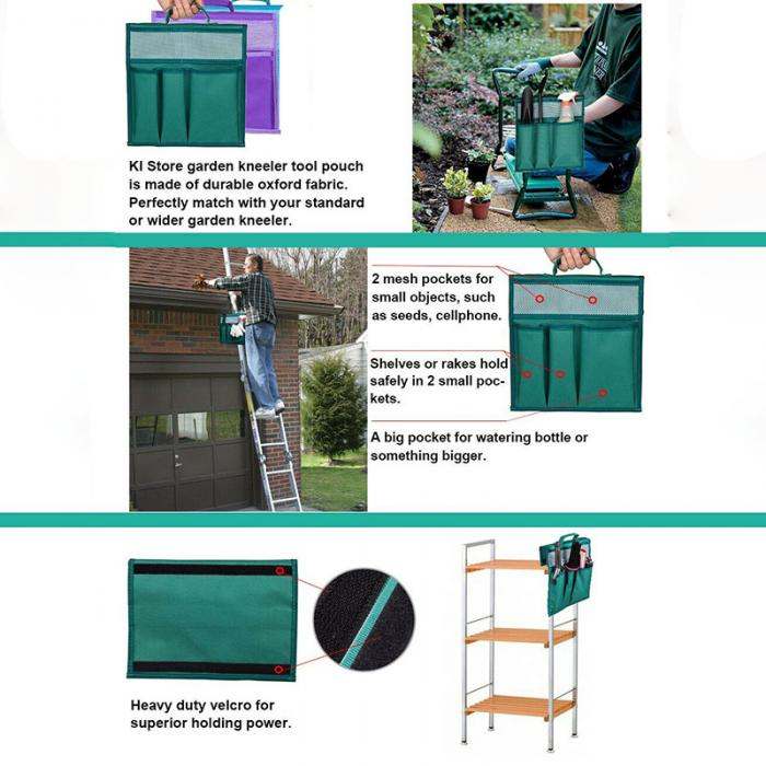 Garden Kneeler Tool Oxford Bags 12.2*11.8/'/' with Handle for Kneeling Chair *