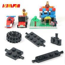 100 g/lote tijolo Automóvel rodas chassis Do Carro Caminhão veículo DIY Tijolos de Construção de Peças de Designer de Brinquedos Modelo Building Blocks Brinquedos