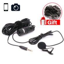 Ulanzi Ligero Micrófono 6 M Boya Mesas BY-M1 3.5mm Micrófono de Condensador para Smartphones/Dslr/Grabadora/Videocámaras/Parabrisas libre