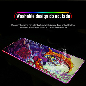 Image 5 - 800x300 grande mouse pad gamer usb led rgb iluminação gaming computador mousepad xl borracha mouse esteira cs ir hyper besta para computador portátil