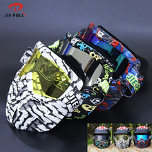 Jiepolly Cycling Glasses Motorcycle Half Face Mask Goggles Men Women MTB Bike Road Sunglasses Ultralight UV400 Motocross Goggles
