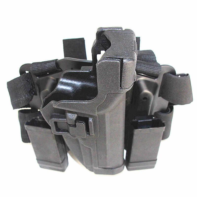 Tactical Drop Leg Holster M9 92 96 Hunting Military Light Bearing Airsoft Holster Gun Case Right Hand Pistol Thigh Holster