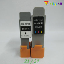 BCI-21 BCI-24 Compatible Ink Cartridge For Canon BCI 21 24 Bjc 2115 2000 2100 2120 400 410 400j 4000 pritner
