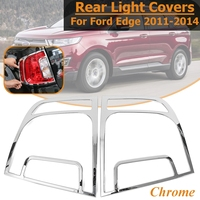 1Pair ABS Chrome Auto Rear Tail Light Fog Light Lamps Frame Covers Trim Taillight Frame Car