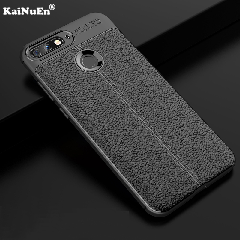 KaiNuEn Luxury Phone Etui,coque,cover,case For Huawei Honor 7C AUM-L41 5.7 Inch Silicon Silicone Soft Tpu Back Protector Case