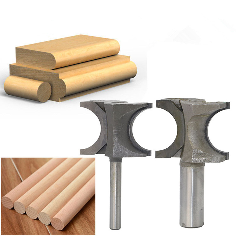 Solid Carbide Semicircular Milling Cutter For Wood Router Bit Cutters Arc Knives Fresas Para Madeira CNC Woodworking Tools 1 2 5 8 round nose bit for wood slotting milling cutters woodworking router bits