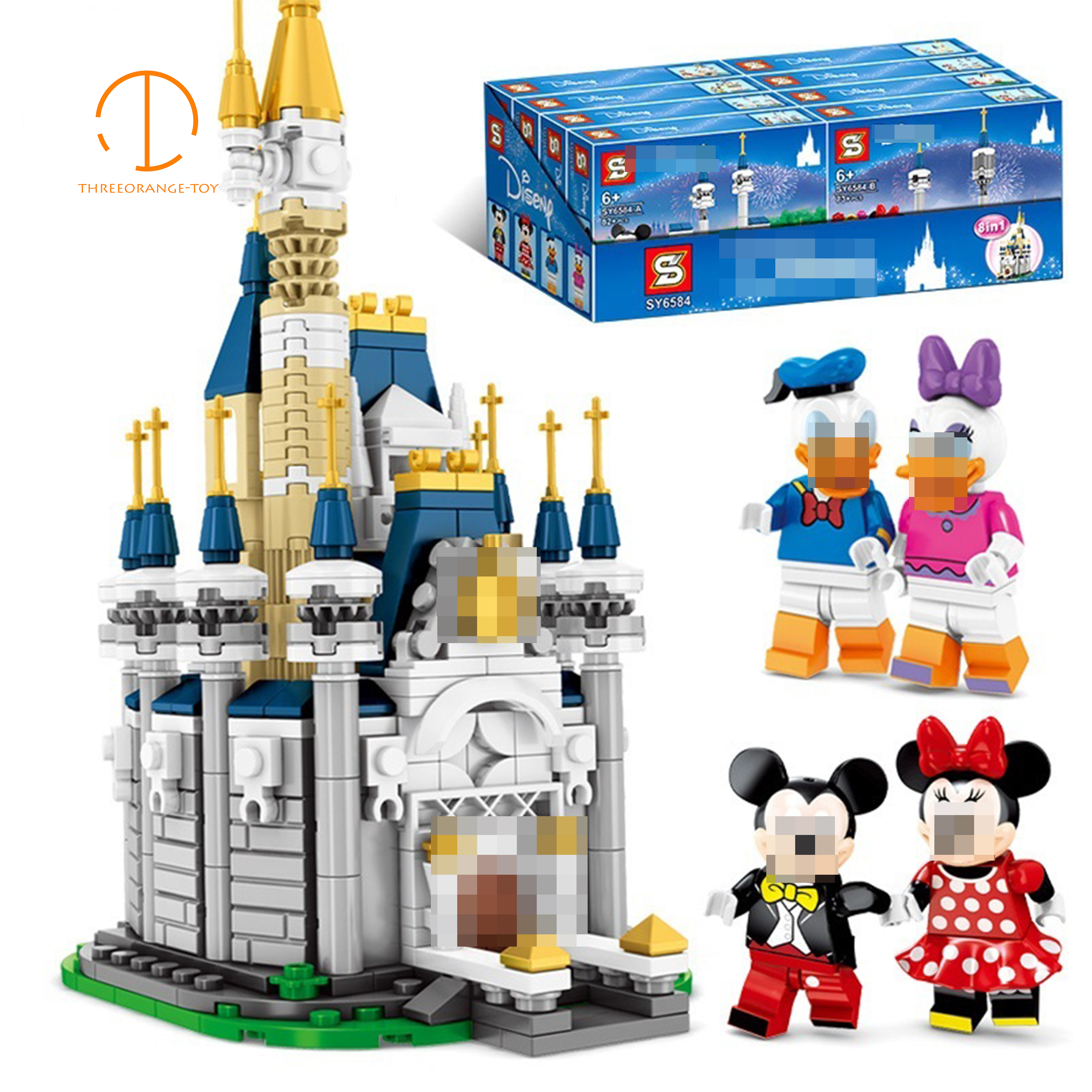 Mickeyed and Minnieed 8in1 Fairy tale castle Compatible with Building Block Bricks Toys for kids legoing birthday giftsMickeyed and Minnieed 8in1 Fairy tale castle Compatible with Building Block Bricks Toys for kids legoing birthday gifts