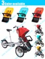Taga madre cochecito de bebé bicicleta asiento rueda grande