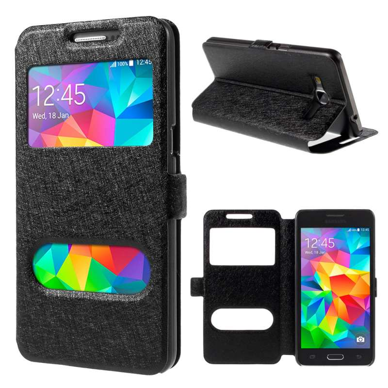 Fundas Carcasas <font><b>Capinhas</b></font> For Samsung Galaxy j1 j2 j3 j5 <font><b>j7</b></font> 2016 2017 prime j330f j530f j730 View Window Fashion Bag Leather Case image