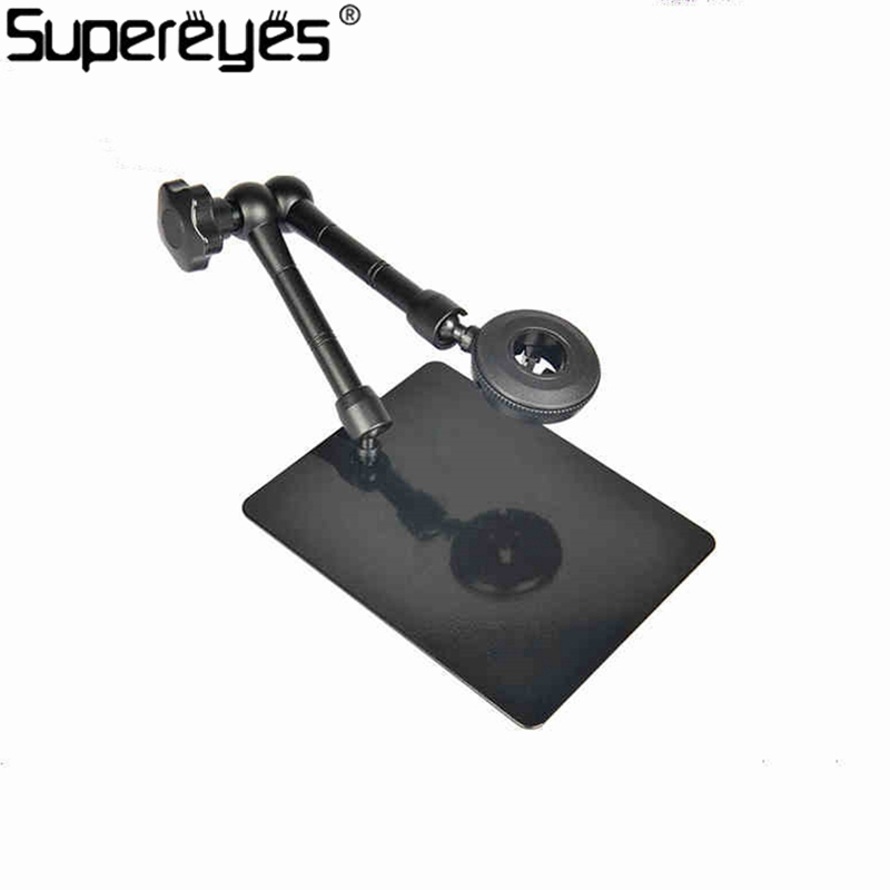 Metal Stand Holder Magic Universal Adjustable Rotating Stand For Handheld Digital Microscope Magnifer Support Stand Z004 Black xhorizon tm high quality robust hardshell portable handheld rotating holder impact