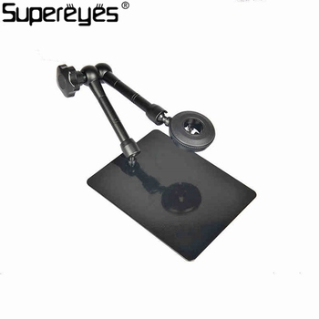Metal Stand Holder Magic Universal Adjustable Rotating Stand For Handheld Digital Microscope Magnifer Support Stand Z004 Black