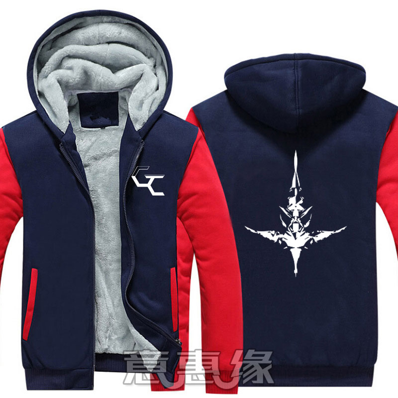 [STOCK] Anime Guilty Crown Cosplay Costume Jackets Coats Long Winter Zipper Coat Hooded Hoodie M-5XL For Halloween Free Shipping