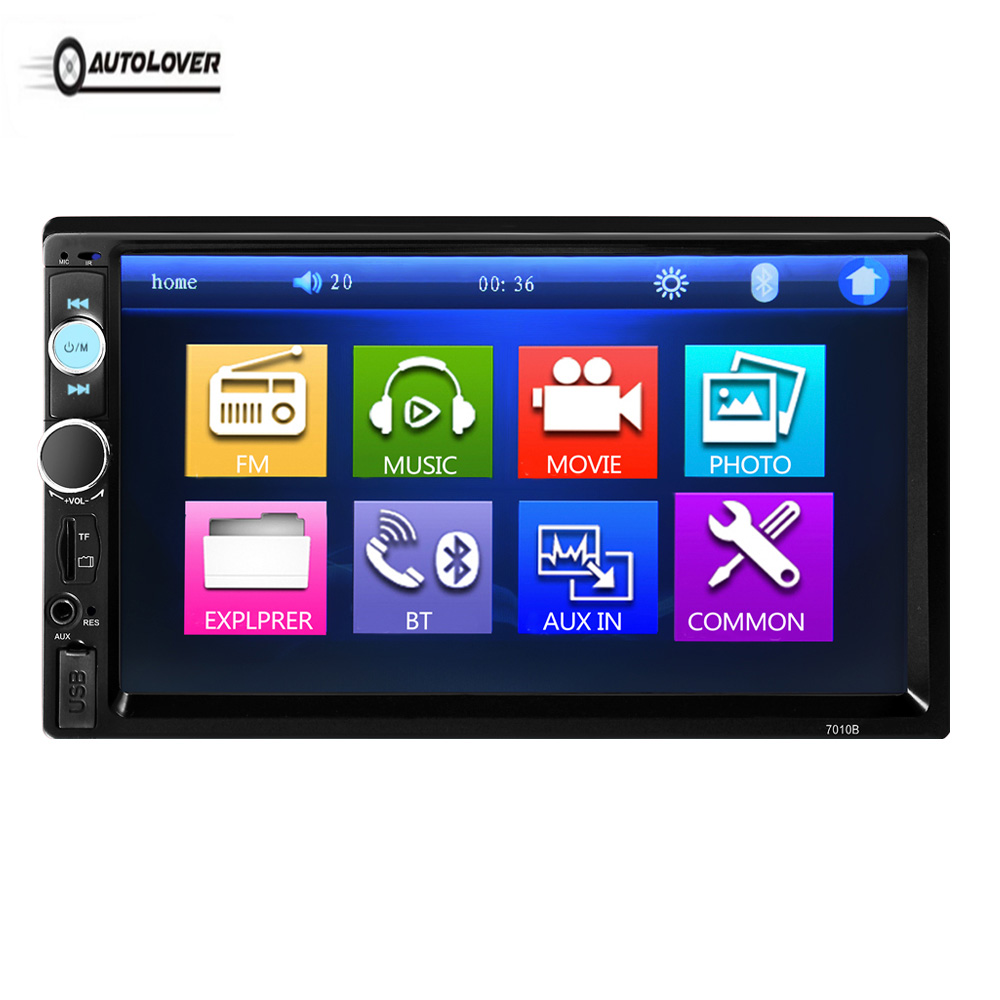 AUTOLOVER 7010B 2Din 7 inch Car Radio Car MP5 Player Multimedia Player Touch Screen Auto Audio Stereo FM/MP5/USB/AUX/Bluetooth