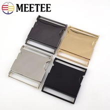 2pc Meetee Metal Buckles 40/50mm Quick Side Release Buckle Dog Collar Webbing Belt Clip DIYLeathercraft Garment Bags Accessories