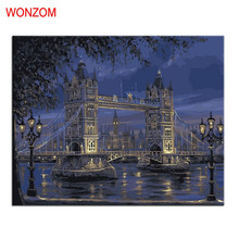 London bridge Painting By Numbers DIY HandPainted Modern Picture Art Coloring Number On Canvas Pictures For Living Decor 2017
