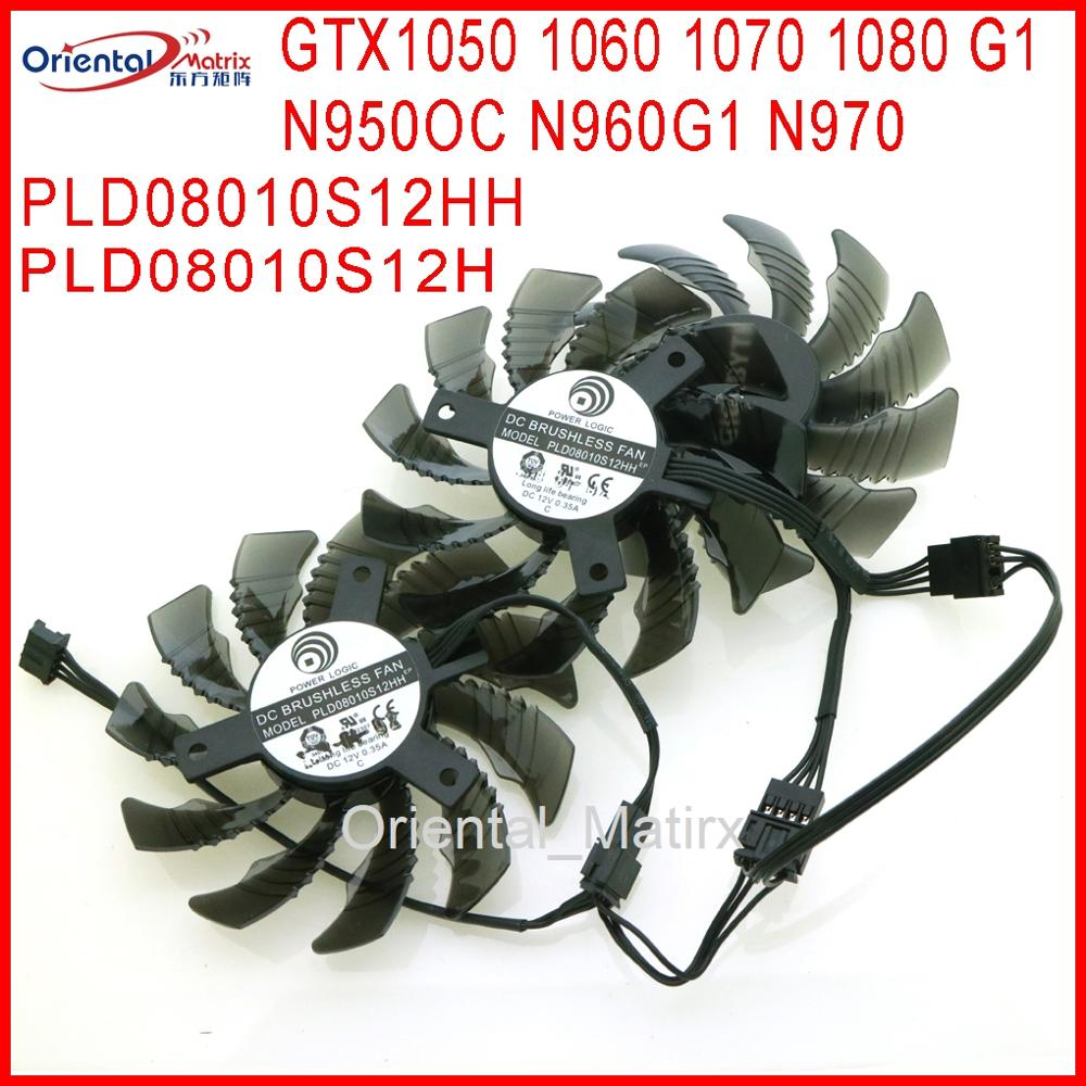 DC12V 75mm GPU VGA Video Card Fan For Gigabyte GTX1050 1060 1070 1080 G1 N950OC N960G1 N970 Graphics Card Cooling Fan image
