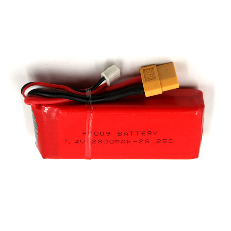 7.4V 2800mAh 25C 2S RC LiPo battery For FT009 RC Boat Airplane Quadrotor Helicopter Drone Li-ion battery