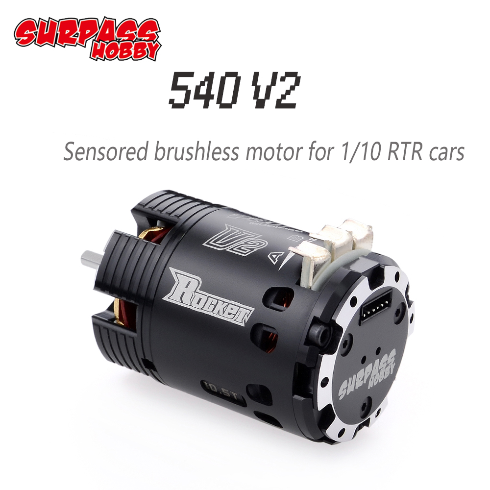 Image 2 - SURPASSHOBBY Rocket 540 V2 10.5T 13.5T 17.5T 21.5T Sensored Brushless Motor for Spec Stock Competition 1/10 1/12 F1 RC Car-in Parts & Accessories from Toys & Hobbies