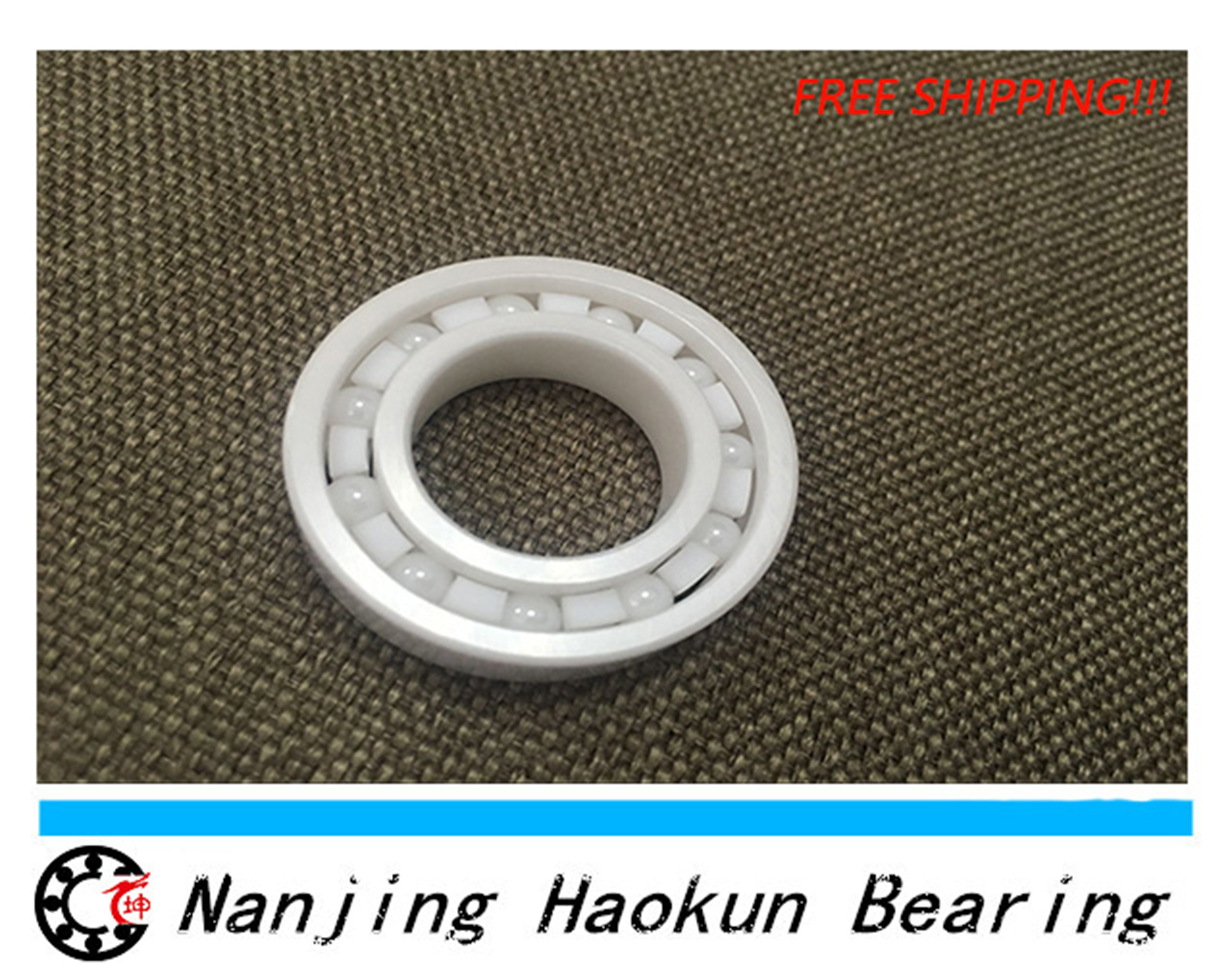 Free shipping 6211 full ZrO2 ceramic deep groove ball bearing 55x100x21mm good quality 6211zro2