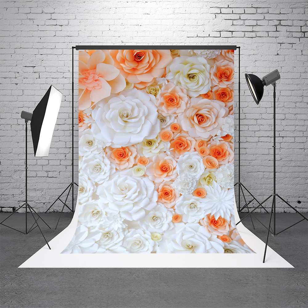 10x10ft Kate Children Flower Photography Backdrops 3D Yellow And White Floral Backgrounds For Photo Studio Newborn Background white floral vinyl cloth photography background sunshine backdrops blue sky backgrounds for children photo studio f1051