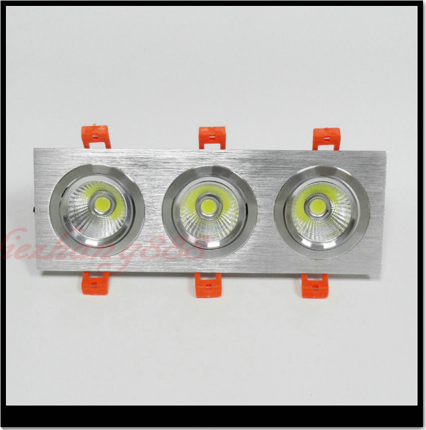 Free shipping Hot sale!!! 3*10W COB LED Downlight AC110/AC240V Cool/Warm White CE&ROHS 3*10W COB LED Spotlight Ceiling Lamps
