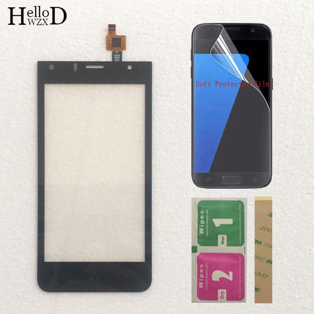 Mobile Touch Screen For ZTE Blade A210 A 210 Touch Screen Glass Digitizer Panel Front Glass Sensor Protector Film