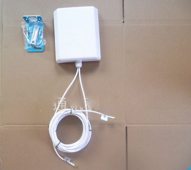 4G LTE RP SMA Outdoor Panel Antenna For Mobile Cell Phone Signal Amplifier Double 5 meter